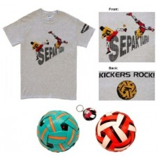 Special - Net Action/Kickers Rock T-shirt & Balls Gift Package